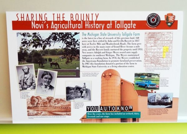 Mortorcities Marker - Sharing the Bounty: Novi's Agricultural History at Tollgate